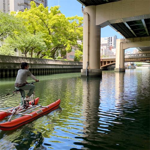 シティサップバイクで水上さんぽ