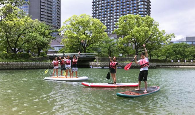 桜ノ宮ビーチで水上さんぽ体験会