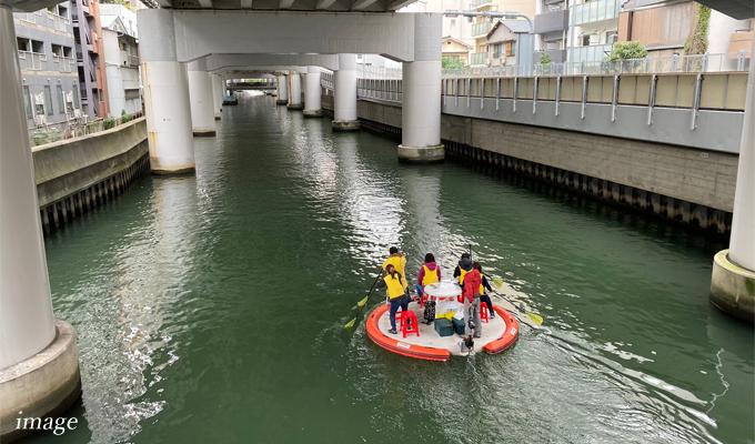 東横堀川で水上さんぽ