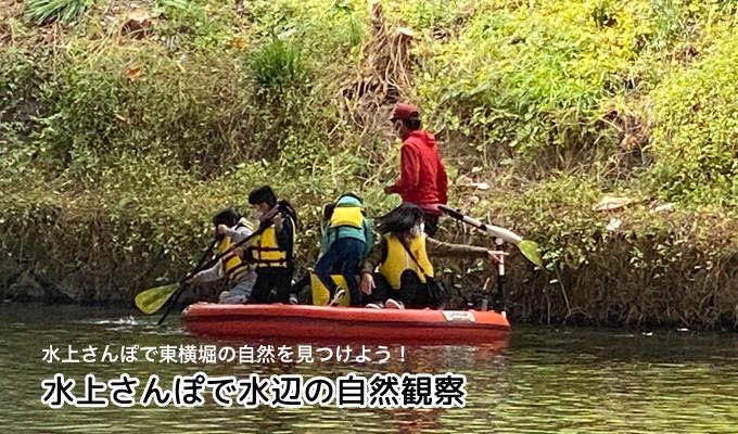 まちなか水辺で自然観察