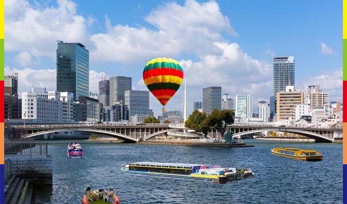 熱気球と水上さんぽ体験
