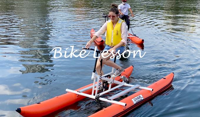 バイクで水上さんぽ